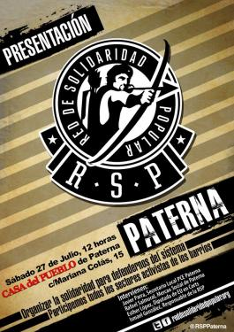 Presentación de la Red de Solidaridad Popular en Paterna
