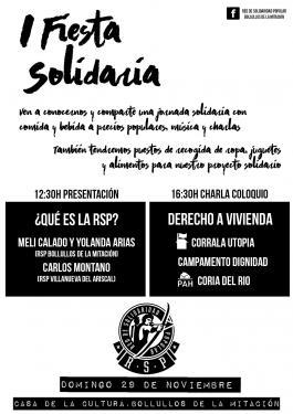 Cartel I Fiesta Solidaria