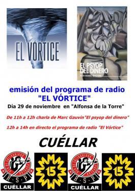 Charla sobre el paradigma del dinero y emisión en directo de El Vórtice Radio.
