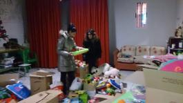 Recogida de juguetes en el centro solidario de Cuéllar
