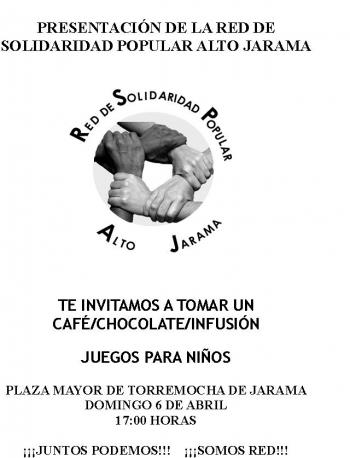 Presentación Red de Solidaridad Popular – domingo 6 abril en Torremocha