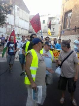 III marchas de la dignidad, Catalunya, Terrassa