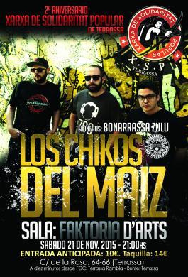 II Aniversario XSP Terrassa, Concierto Los Chikos del Maíz.